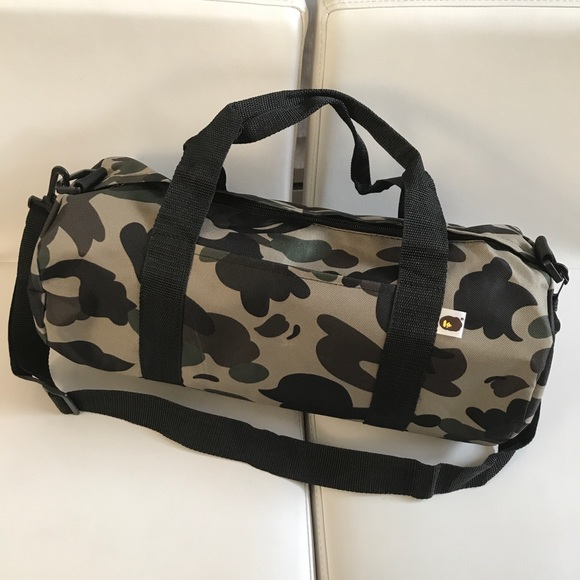 85b47828d58e Bape Other - A Bathing Ape Camouflage Duffel Gym Bag